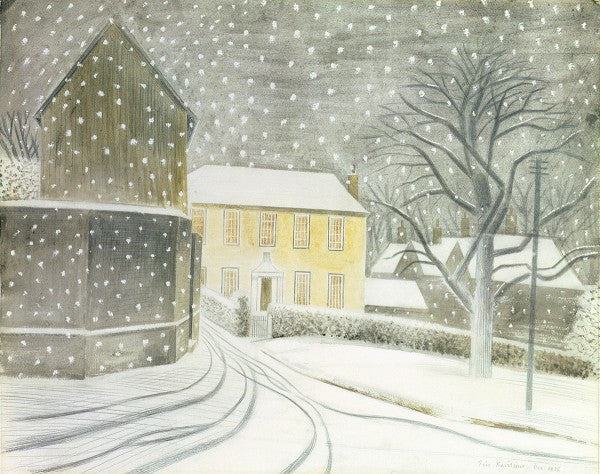 Halstead in the Snow print by Eric Ravilious