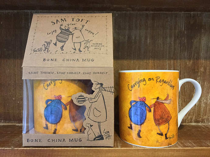 Carrying on Regardless Mug by Sam Toft