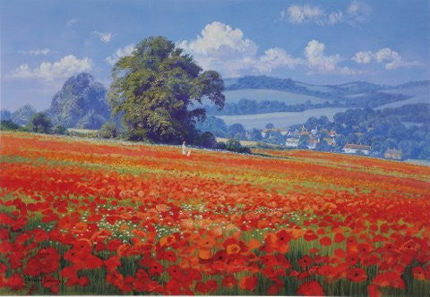 Jevington Poppies Print by Christopher Osborne