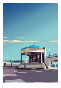 Eastbourne Bandstand Print by Adam McNaught-Davis