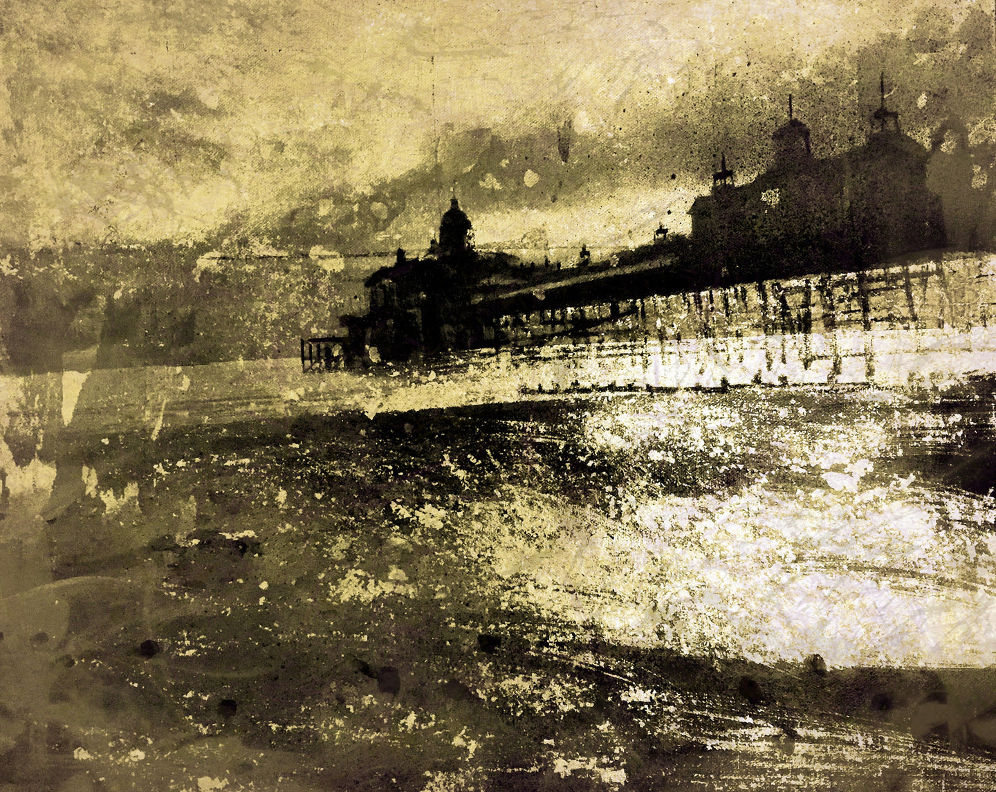 The Pier Print by Barry Wilson