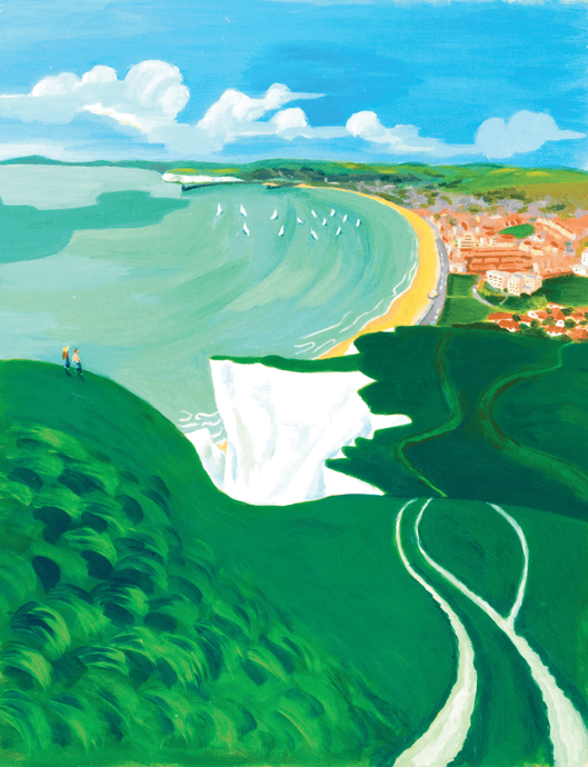 Seaford Head Print by Sarah Gregson