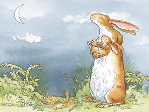 I Love You Right Up to the Moon Print by Anita Jeram