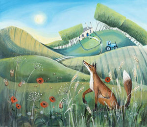 Fox in the Meadow Print by Carolyn Pavey