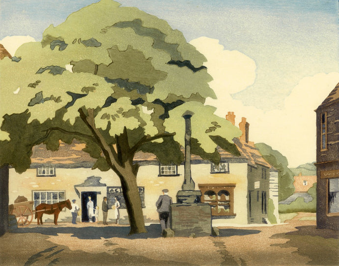 Alfriston print by Eric Slater