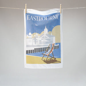 Eastbourne tea towel by Dave Thompson