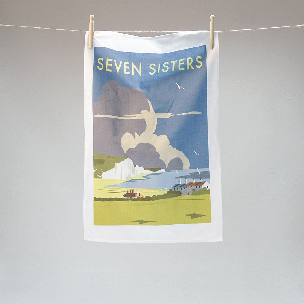 Seven Sisters tea towel by Dave Thompson