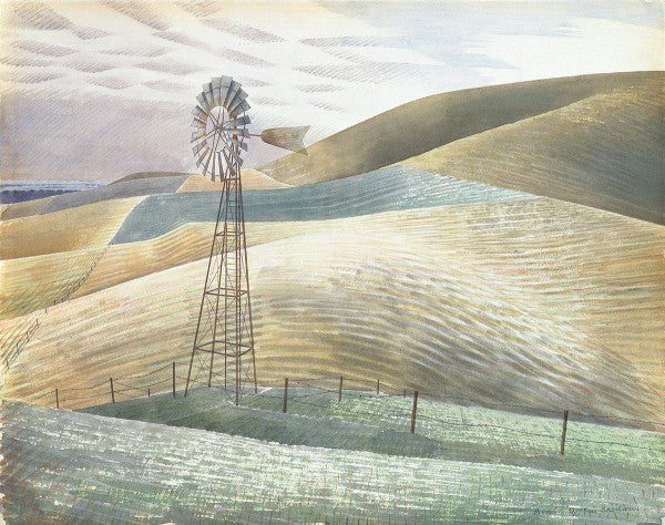 Windmill Print by Eric Ravilious