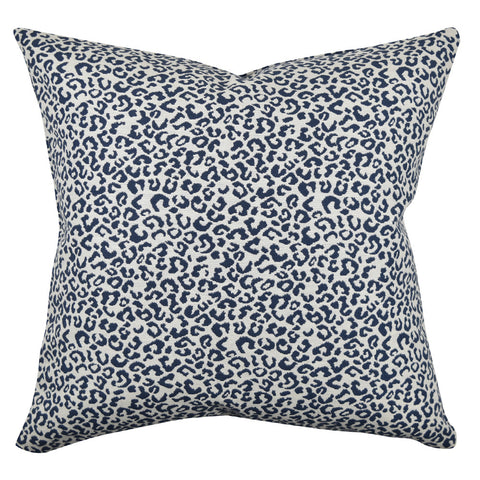 Blue & White Leopard  pillow product image