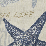 Sandy Seaside throw pillow fabric detail