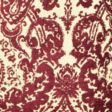 Merlot & Cream Damask throw pillow fabric detail