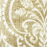 Golden Damask Pillow Fabric Detail