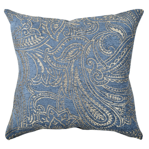Glaucous Flocked Damask pillow product image