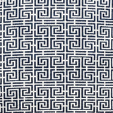 Modern Grecian Fretwork throw pillow fabric detail