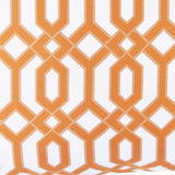 Orange Link Pillow Fabric Detail