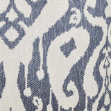 Deep Blue Ikat Pillow Fabric Detail