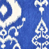 Blue Ikat Pillow Fabric Detail