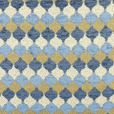 Surf & Sand Ogee throw pillow fabric detail