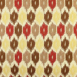 Brown & Red Honeycomb throw pillow fabric detail