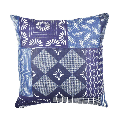 Sapphire Patchwork Quilt pillow product image