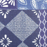 Sapphire Patchwork Quilt Pillow Fabric Detail