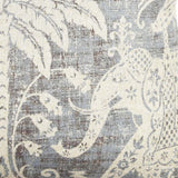 Elephant & Palm throw pillow fabric detail