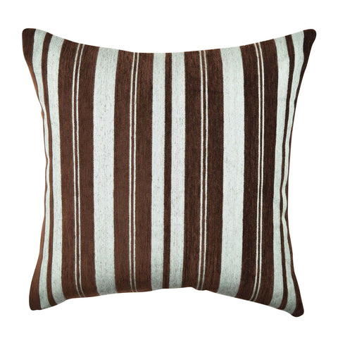 Cocoa Flocked Stripes