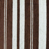 Cocoa Flocked Stripes Pillow Fabric Detail