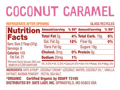 Coconut Caramel Nutrition