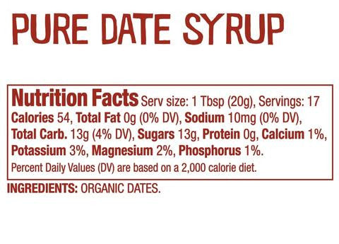 date syrup nutrition facts