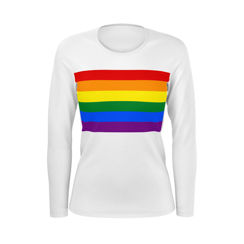 LGBT Color Meanings, Woman's Long Sleeve White Shirt