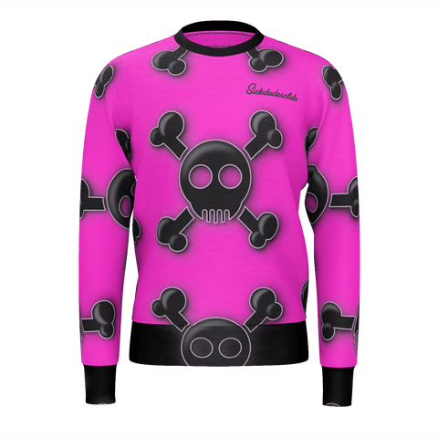 ill pink skully sweater