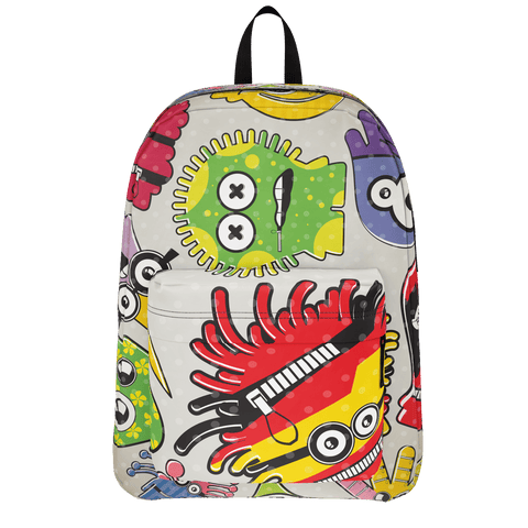 School Bus Aliens Backpack 10