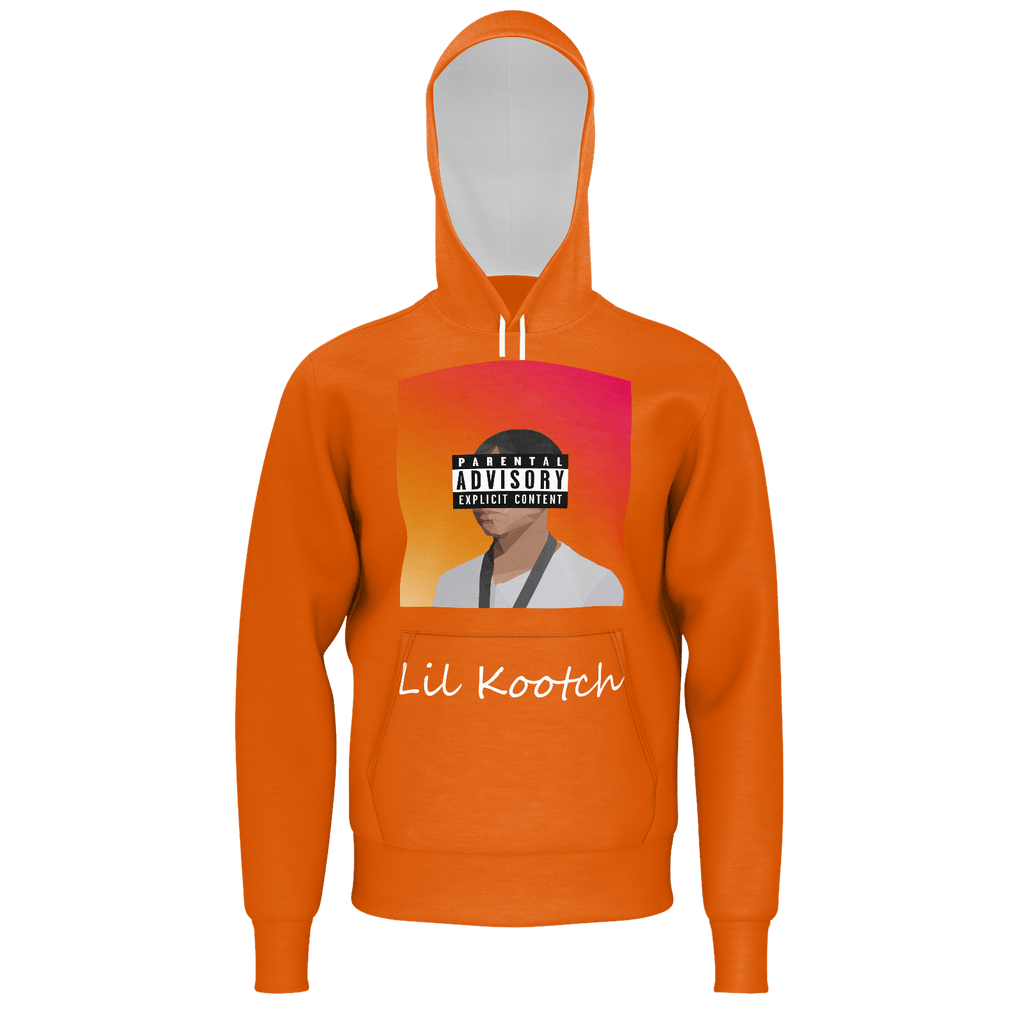 Explicit Portrait Orange Hoodie