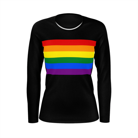 LGBT Color Meanings, Woman's Long Sleeve Black Shirt