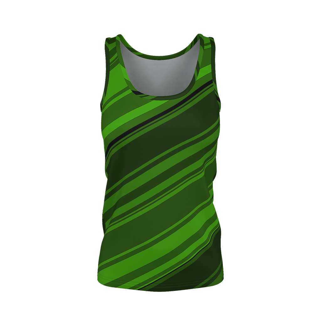 Black/Green Diagonal Striped Women's SJ Tank Top