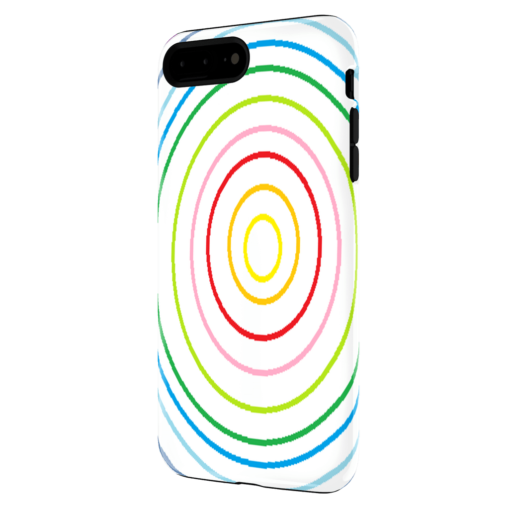 Iphone7 plus rainbow white case