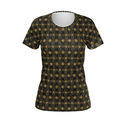 Black Gold Roaring 20s Gatsby Art Deco Women's T-shirt