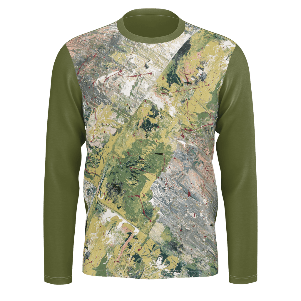 WAR - Men Long Sleeve Pima T-Shirt (Olive)