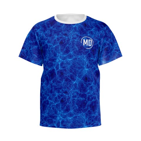 Boys MD Logo Blue Lighting T-shirt