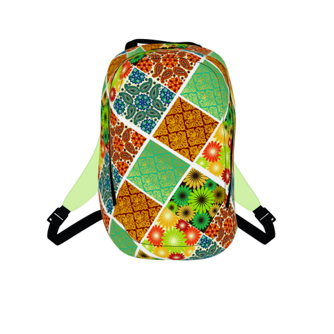 patch work backpack