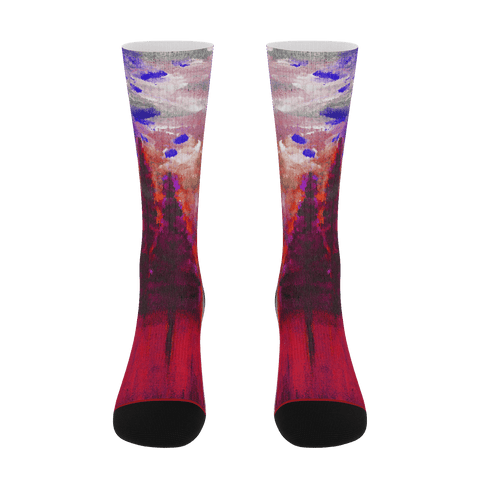 Red Forest Socks