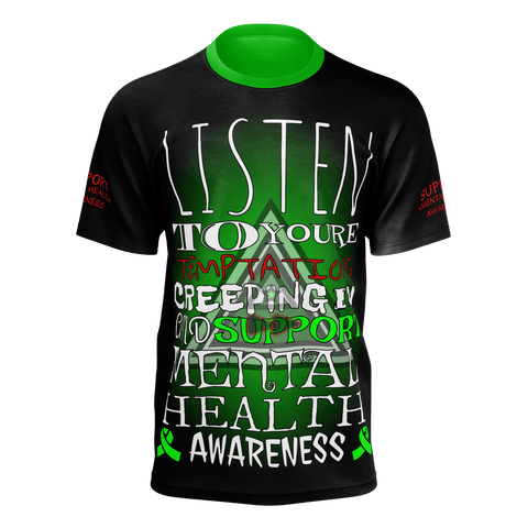 MENS HALLOWEEN MENTAL HEALTH AWARENESS T-shirt