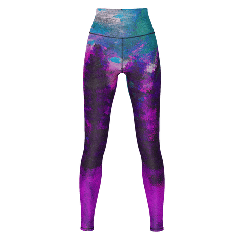 Pink Forest Yoga Pants