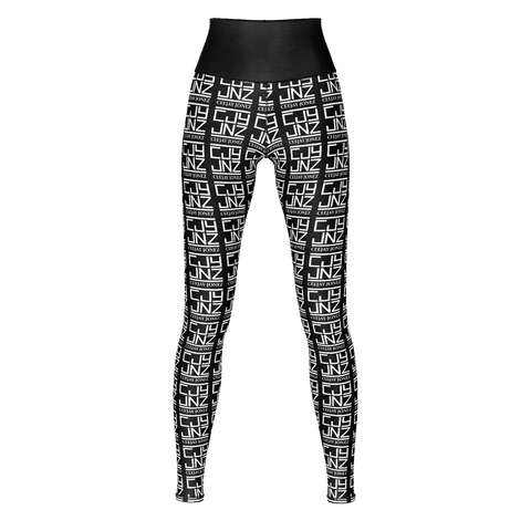 Allover Logo Yoga Pants (Black)