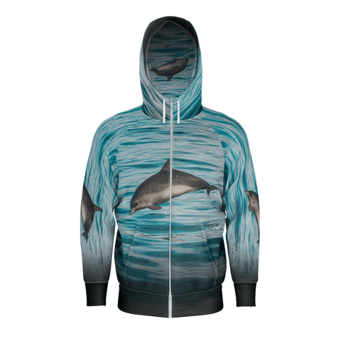 Flying Dolphins Hooide Mens Poly