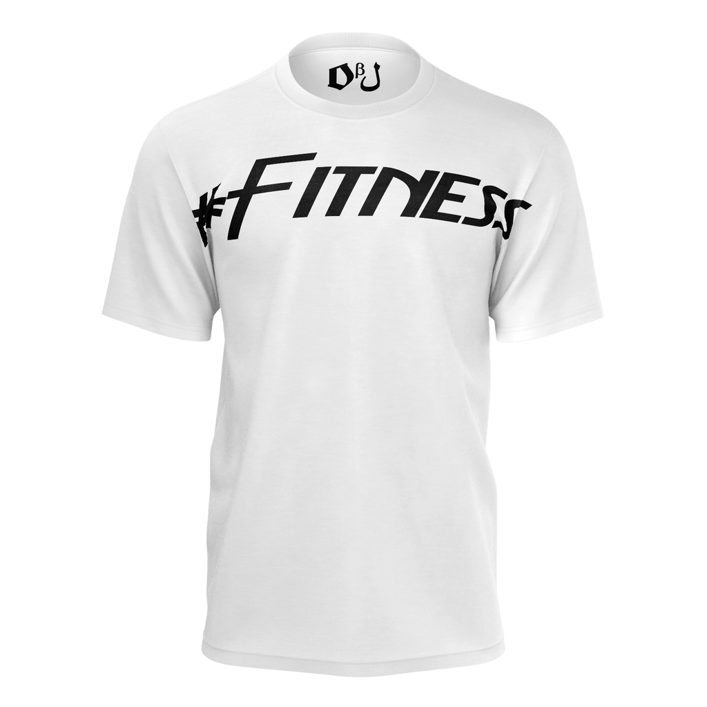 #Fitness Men's T-Shirt (White)