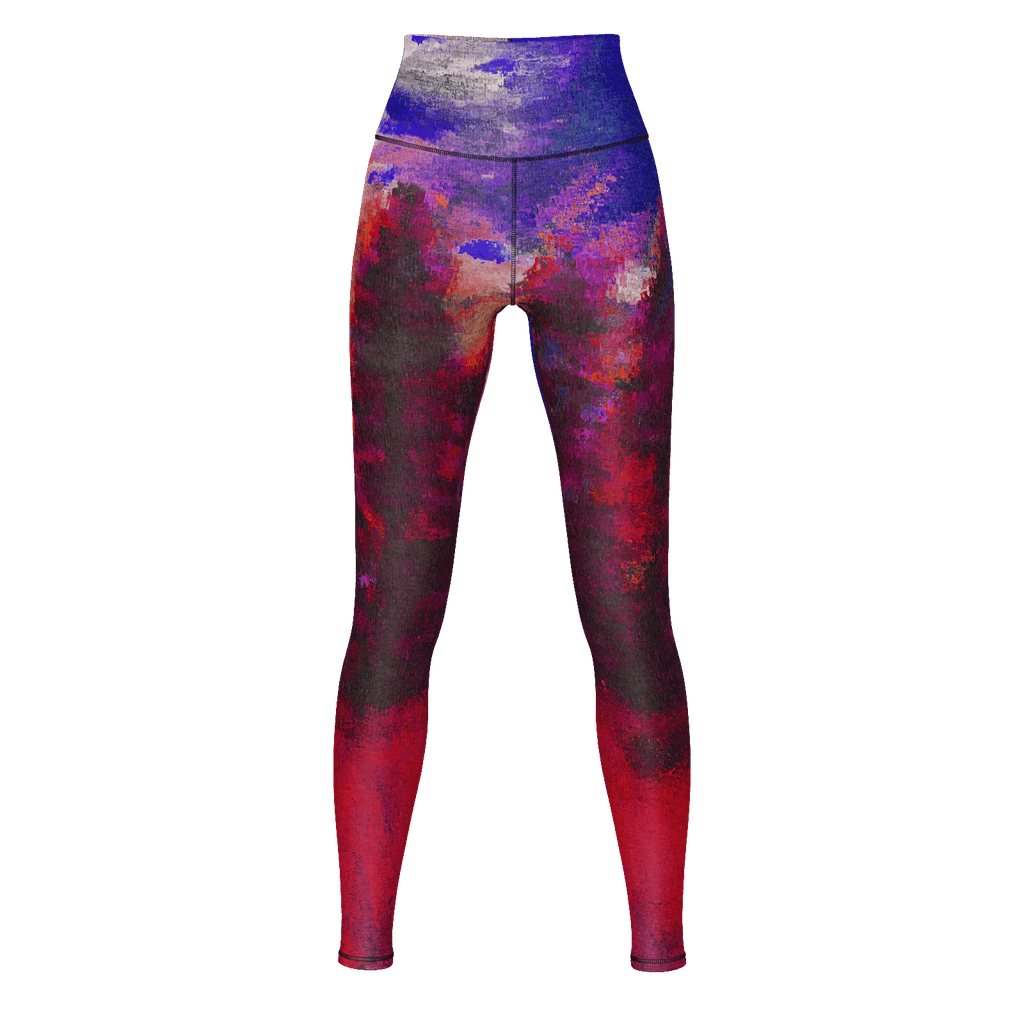 Red Forest Yoga Pants