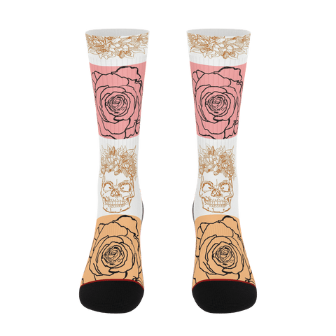 B.E ART Skull Rose Socks