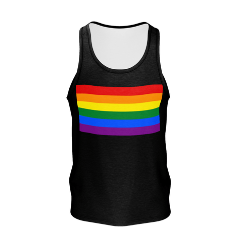 LGBT Color Meanings, Men's Sleeveless Black Tank-Top